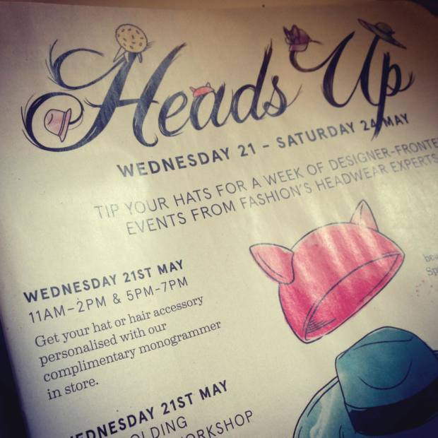 Hawthorne & Heaney Events presents... 'Heads Up' at Liberty London London Hand Embroidery