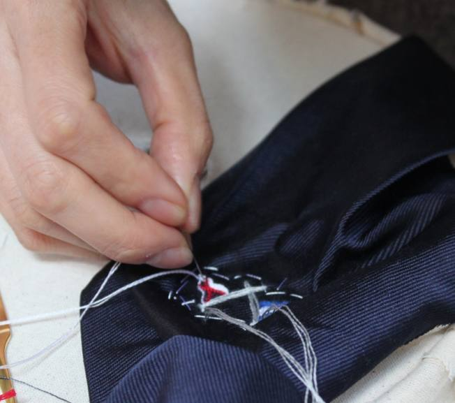 Hawthorne & Heaney with Navio Ties London Hand Embroidery
