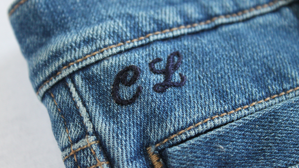 Hawthorne & Heaney with MiH jeans London Hand Embroidery