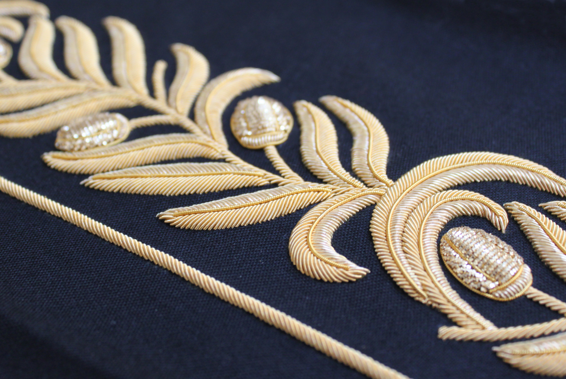 Hawthorne & Heaney and Goldwork by the London Embroidery School London Hand Embroidery