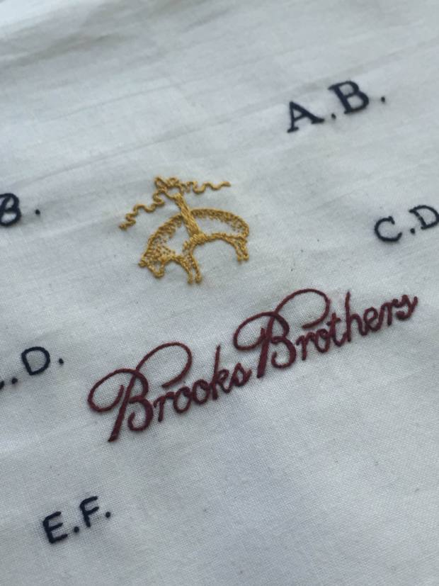 Monogramming at Brooks Brothers London Hand Embroidery
