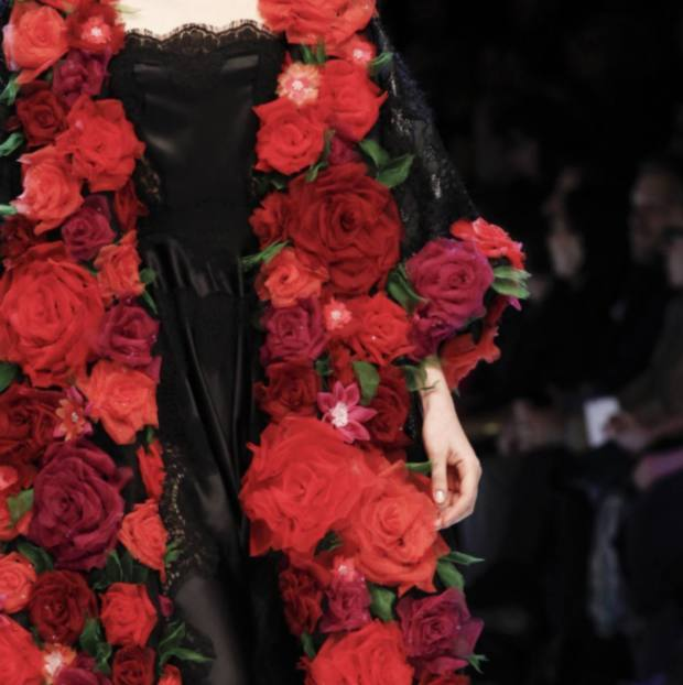 London Embroidery School does DIY Runway: Chiffon Roses Class London Hand Embroidery
