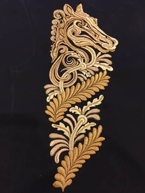 Hawthorne & Heaney for Joshua Kane A/W 2017 London Hand Embroidery