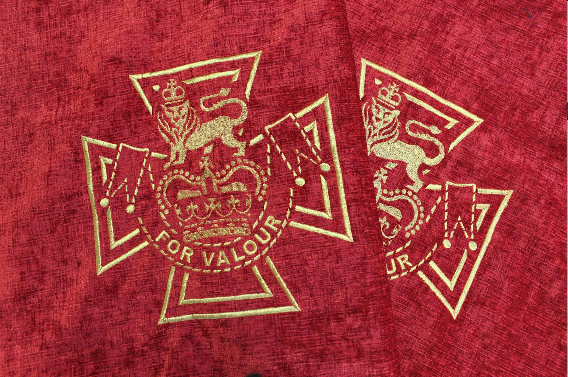 Hawthorne & Heaney For the Victoria Cross Heroes Tribute London Hand Embroidery