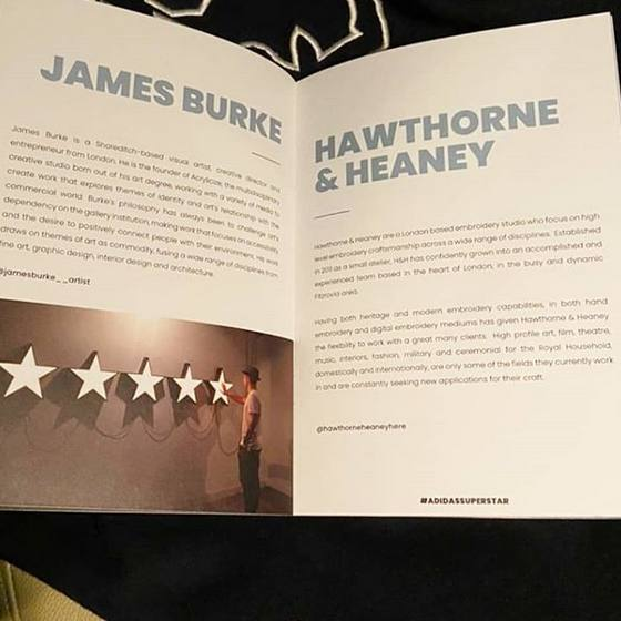 Hawthorne & Heaney in Collaboration with James Burke London Hand Embroidery